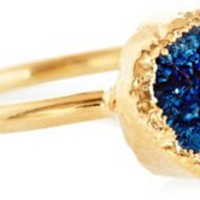 Navy Drusy Rue Ring, Stone & Novelty Rings