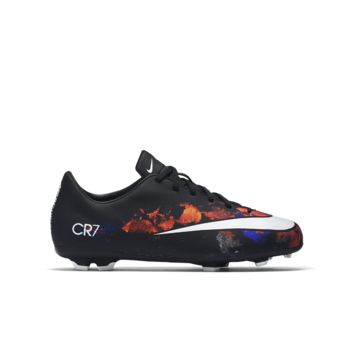 Nike Jr. Mercurial Victory V CR7  Kids' Firm-Ground Soccer Cleat Size 10C (Black)