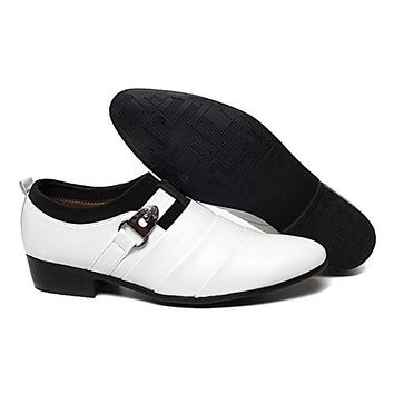 Viihahn Men's Slip on Oxford Business Classic Formal PU Leather Dress Shoes