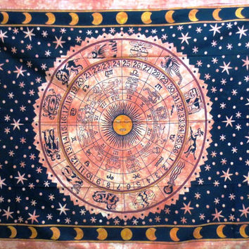 Zodiac, Horoscope, Star Sign, Astrology Tapestry throw, Wall Hanging, Tapestry MANDALA