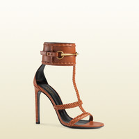 leather ankle-strap sandal 370860C9DS06336