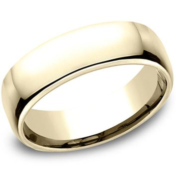 Benchmark Classic Yellow Gold 6.5MM European Comfort Fit Wedding Band