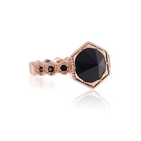 Hex Stud Statement Ring