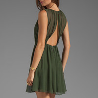 Alice + Olivia Halter Flirt Dress in Army from REVOLVEclothing.com