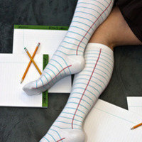 Socks » Socks » Ash Dashi Notebook Knee Highs « Sock Dreams