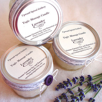 Bulk order 12 candles 10% discount. Custom Blend Essential Oil 4 oz. Mini mason jar massage candle. Sesame Coconut Soy Vegan Massage candle.