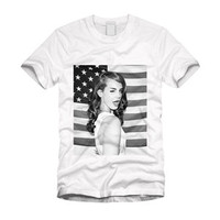 Lana Del Rey Flag tee by queendenim on Etsy