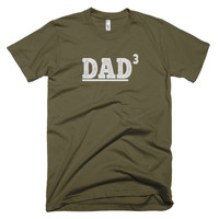 DAD 3 Husband Gift, Valentine's Gift, Father's Day Gift, New Dad Funny T shirt S