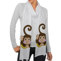 Cute Monkey Scarf Wraps