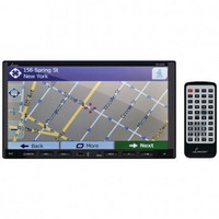 LANZAR SNV695B 7 Double-DIN In-Dash Motorized Fold-down Touchscreen Navigation DVD Receiver with Bluetooth(R) & Built-in GPS