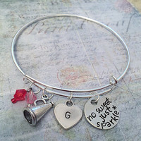 """Love To Cheer Expandable Bracelet FITS WRIST SIZE 7.0"""" to 8.5"""" , Cheer Jewelry, Cheerleader Jewelry, Cheer Captain, Cheer Squad, Cheer Life"""