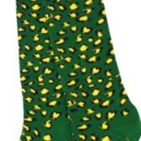 Green Bay Packers Women's Leopard Print Tube Socks - Size Medium
