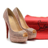 CL Christian Louboutin Fashion Heels Shoes-136