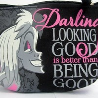 Hallmark Disney Especially Evil DYG9708 Cruella De Ville - Being Good...Makeup Bag
