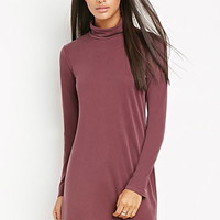 Funnel Neck Textured Dress