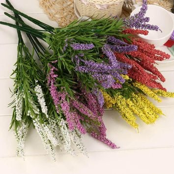 21 Heads Lavender Bouquet Artificial Flowers Crafts Home Decoration Wedding Flowers High Quality