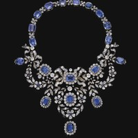 Sapphire and diamond necklace, late 19th century | Lot | Sotheby's