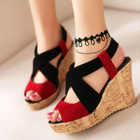 Gothic Anklet Double-layer Black Lace Ankle Bracelets Lace Anklet Chain with Red Rhinestone