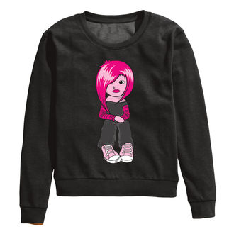 Pink Hair Don't Care Sweatshirt