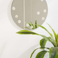 Daisy Decal Mini Round Mirror | Urban Outfitters