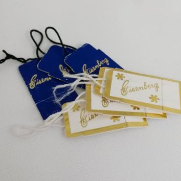 Vintage Eisenberg Jewelry Paper Hang Tags Lot of 7