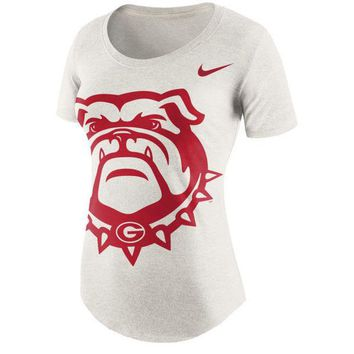 DCCKG8Q NCAA Georgia Bulldogs Ladies Nike Nameplate Boyfriend Tri-Blend T-Shirt