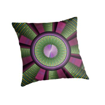 'Round and Colorful Fractal Pattern' Kissen by gabiwArt