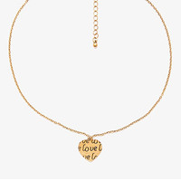 Love Heart Coin Charm Necklace
