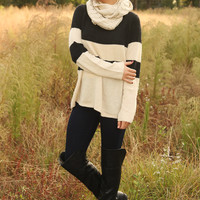 What's It Gonna Be Sweater: Black/Cream