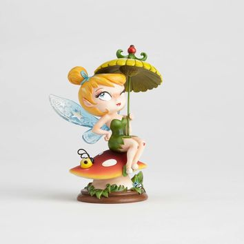 Disney Miss Mindy Tinker Bell On Mushroom Figurine New with Box