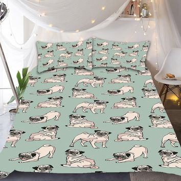 Playful Pug Bedding Set
