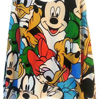 ROMWE | Mickey Mouse&Duck Print Loose Hoodie, The Latest Street Fashion