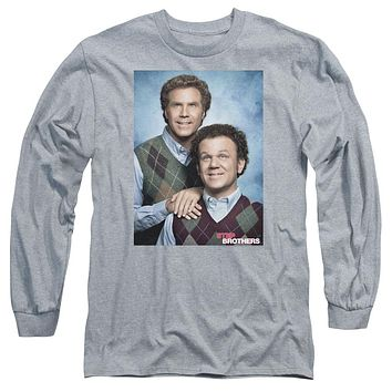 Step Brothers Long Sleeve Shirt Portrait Athletic Heather