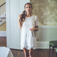 WEB EXCLUSIVE: Medallion Lace Dress in White