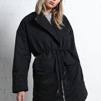 Six Crisp Days Lincoln Puffer Coat - Black