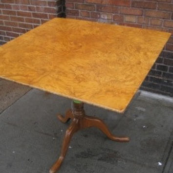 19th C. Burl Wood Swedish Table