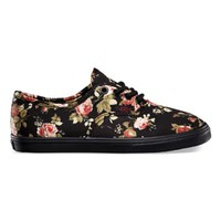 Vans Kids Floral Authentic Lo Pro (black/black)