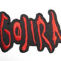 "GOJIRA Heavy Metal Iron On Sew On Embroidered Patch 4.4""/11.2cm"