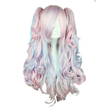Mix Color Synthetic Long Wig