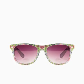 ShopSosie Style : Rosy Posy Sunglasses in Green