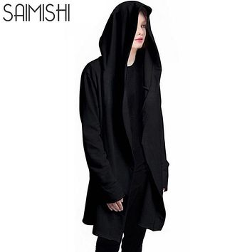 Women Hooded Sweatshirts With Black Gown Best Quality Hip Hop Mantle Hoodies and long Sleeves Design Cloak Winter Coats Outwear