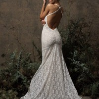 Penelope Stretch Lace Gown