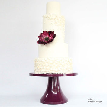 Purple Wedding Cake Stand