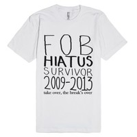 Fall Out Boy Hiatus Survivor-Unisex White T-Shirt