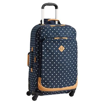 Northfield Navy Dot Checked Spinner, 28""