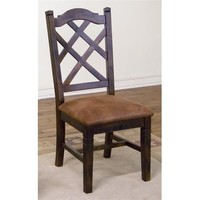 Sunny Designs Santa Fe Double Cross Back Chair In Dark Chocolate