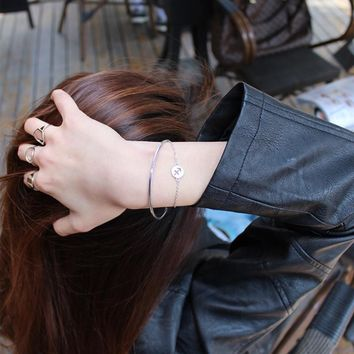 Great Deal Gift Hot Sale Awesome Stylish Shiny New Arrival 925 Silver Korean Simple Design Accessory Gifts Bracelet [8379674119]