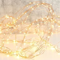 Mains Powered Copper Wire Waterfall String Lights