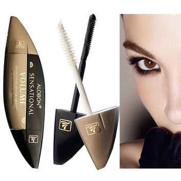 3D Mascara maquillage de marque Volume Express False Eyelashes Make up Waterproof Cosmetics Eyes (Color: Black & White) [8323333185]