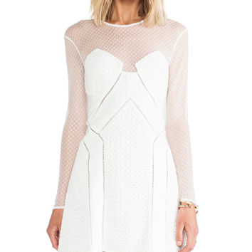 self-portrait White Night A-Line Dress in Ivory